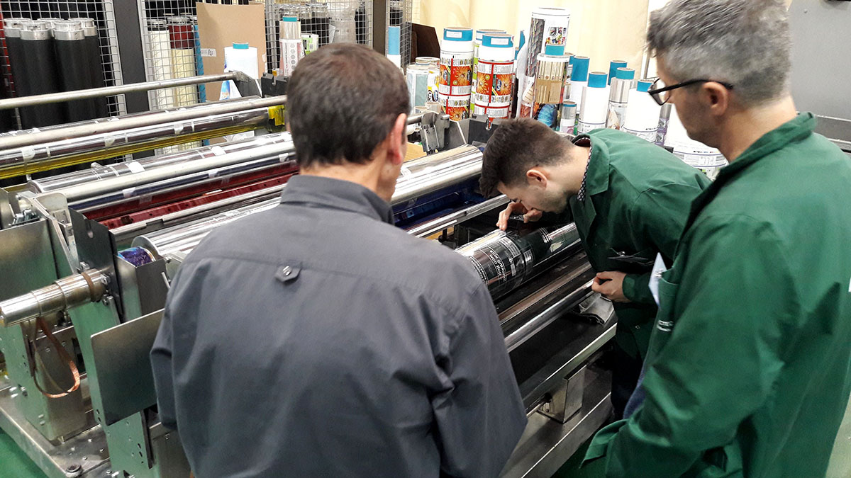 Success in the first edition of the advanced gravure printing course