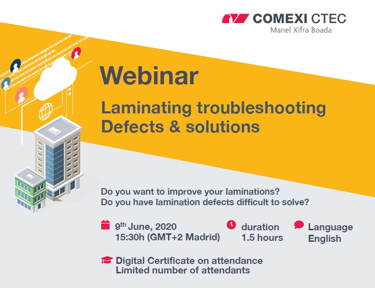 Webinar: Laminating troubleshooting. Defects and solutions