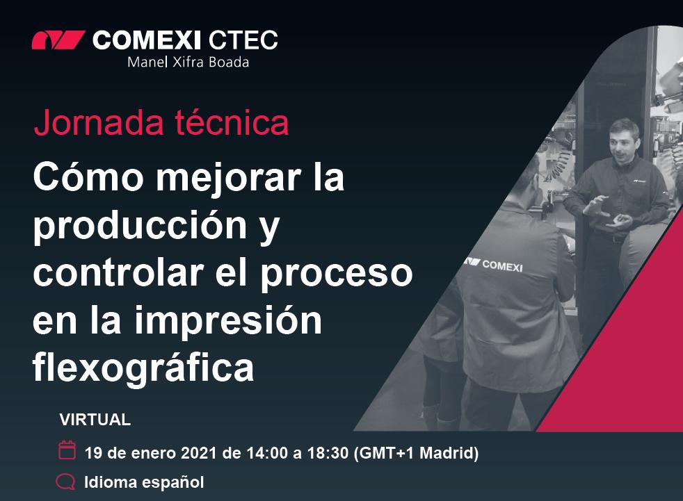 Jornada técnica virtual: Cómo mejorar la producción y controlar el proceso en la impresión flexográfica